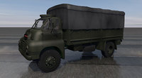 bedford rlc3 ww2 truck 3D model
