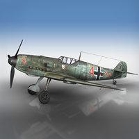 messerschmitt - bf-109 e 3D