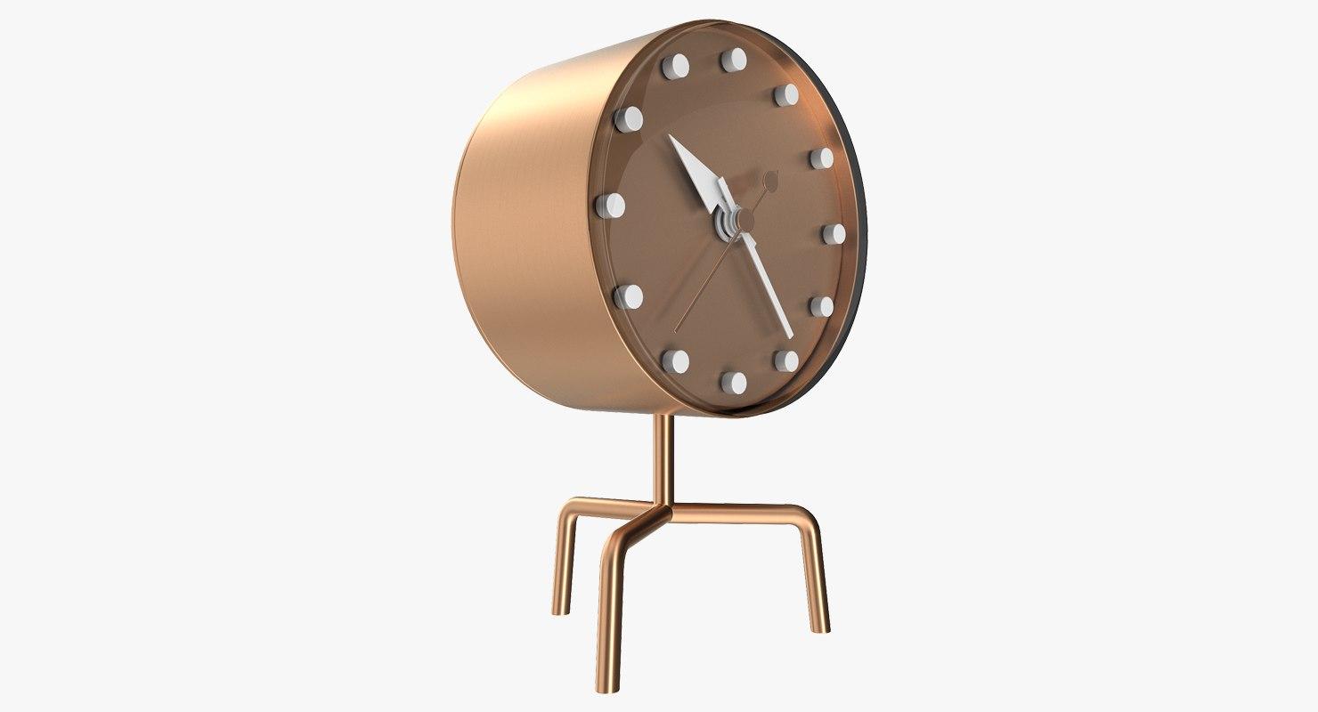 3D office bronze clock model