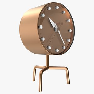 3D office bronze clock model