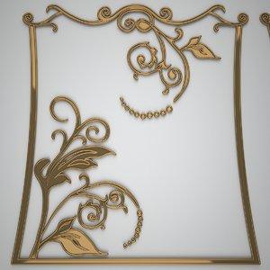 3D decorative ornaments 3 design