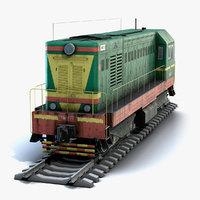 soviet locomotive chme2 railroad model