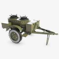 3D model russian military mobile kitchen