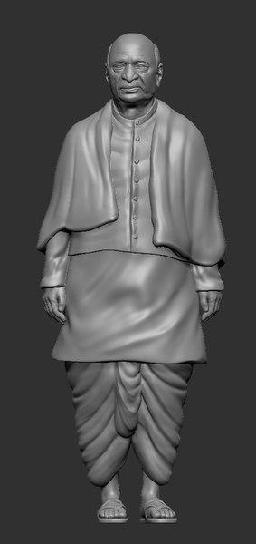 3D statue unity model