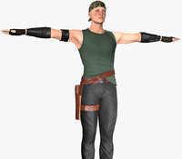 3D model post apocalyptic clothing 6