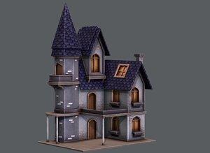 3D model resell house cartoon v09