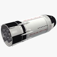 saturn v s-ii stage 3D