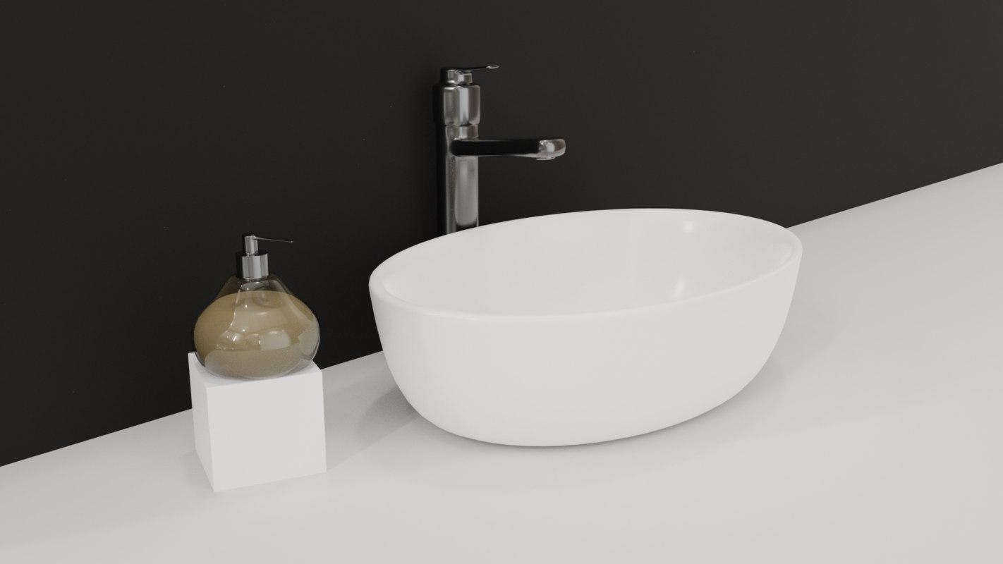 3D sink soap dispenser model