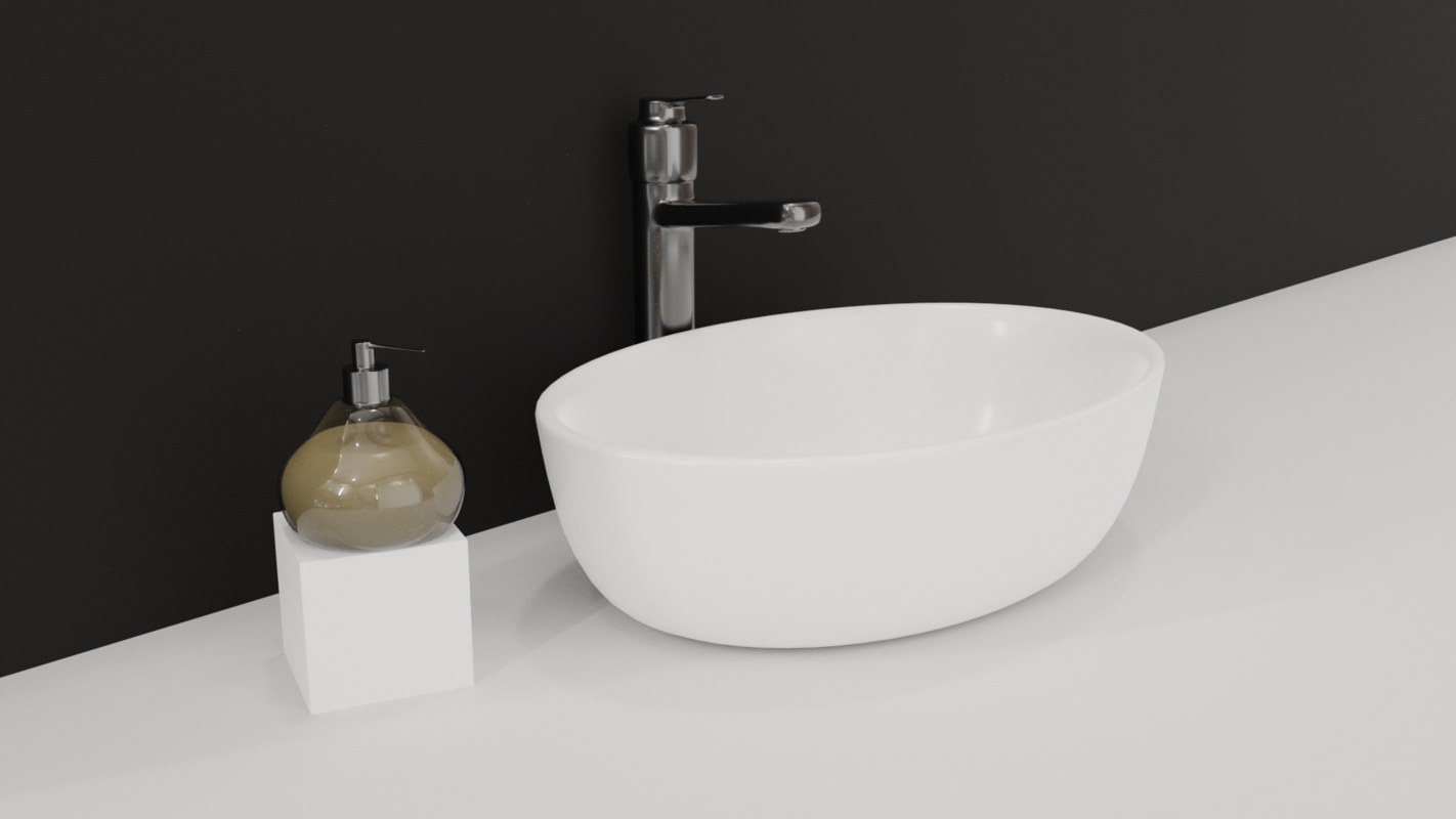 3D sink soap dispenser model
