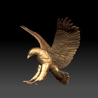 eagle scupture 3D model