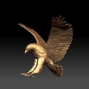 eagle scupture 3D model