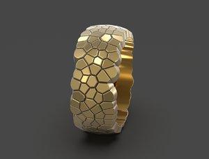 3D ring geometric shape voronoi