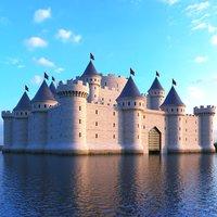 castle medieval 3D model