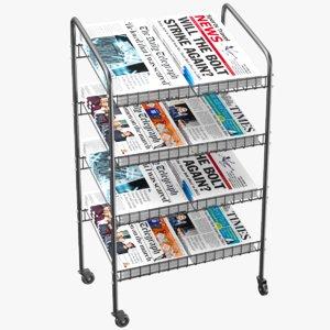 news stand 3D model