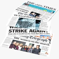 real news papers magazines 3D model