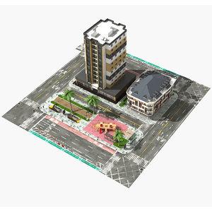 city block - 3D model