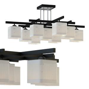 3D model chandelier rod lussole lsl-9007-09