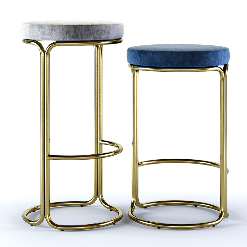 cora bar stool counter 3D model