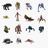 3D robots animations characters model