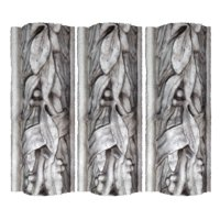 Sculpted leaves wall decoration