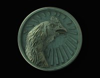 Medallion Fighting  Rooster Coq