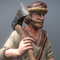 peasant villager man 3D model