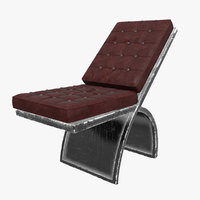 architecture leather chair 3D model