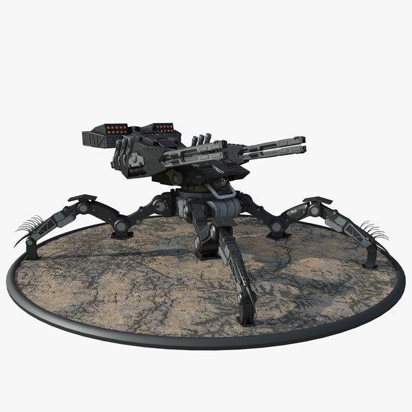 futuristic spider tank 3D model