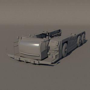 3D tow truck model