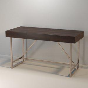 3D desk modern model