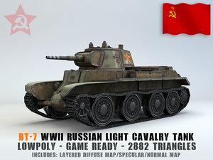 3D light cavalry tank bt