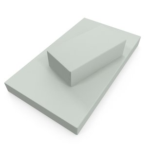cardboard pack box 3D model