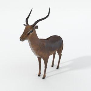 impala antelope 3D model