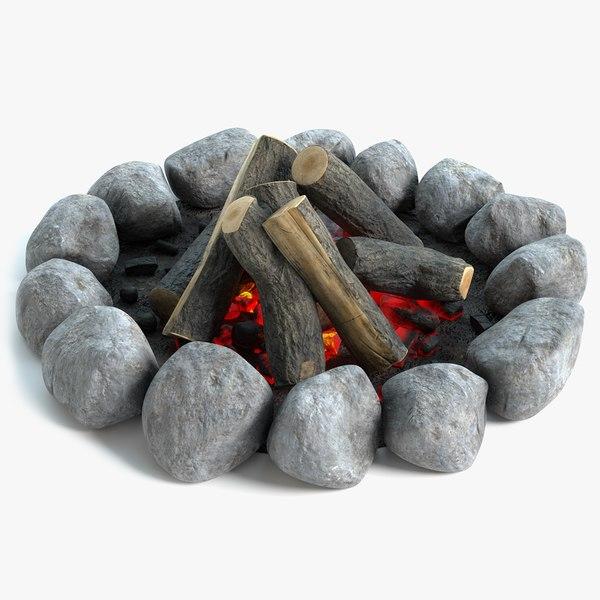 campfire pbr 3D