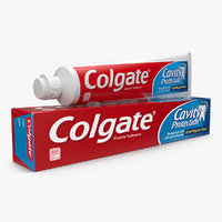 colgate toothpaste box tube model
