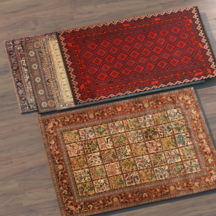 3D persian carpet model