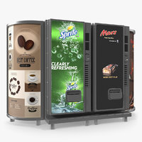 drinks vending machine lightboxes 3D model