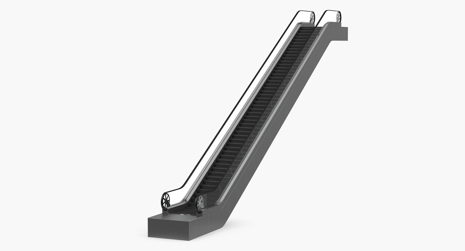 Subway Escalator 3D Model