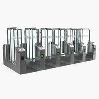 3D subway turnstile complex model