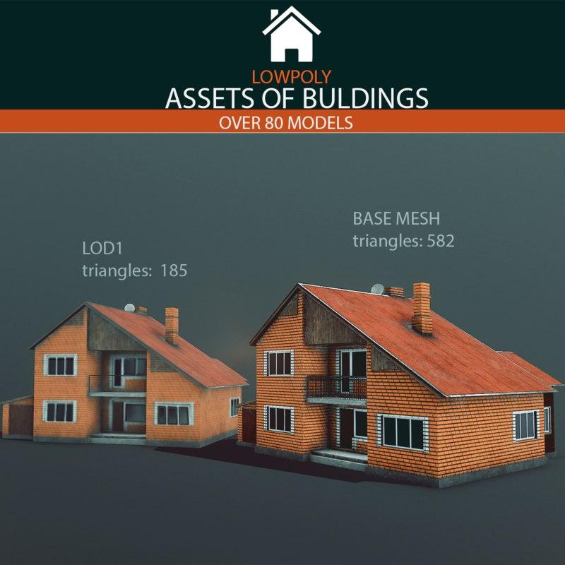 3D buildings pack