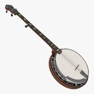 3D vintage banjo
