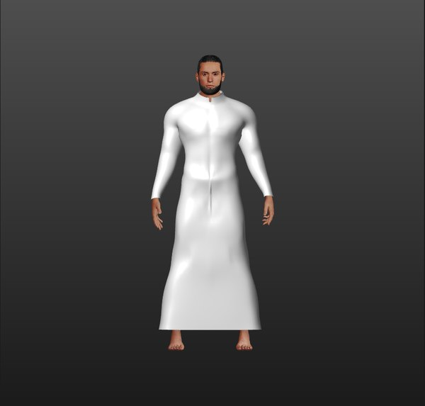 rigged arabic man 3D