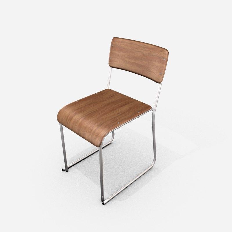 church chair 3D model