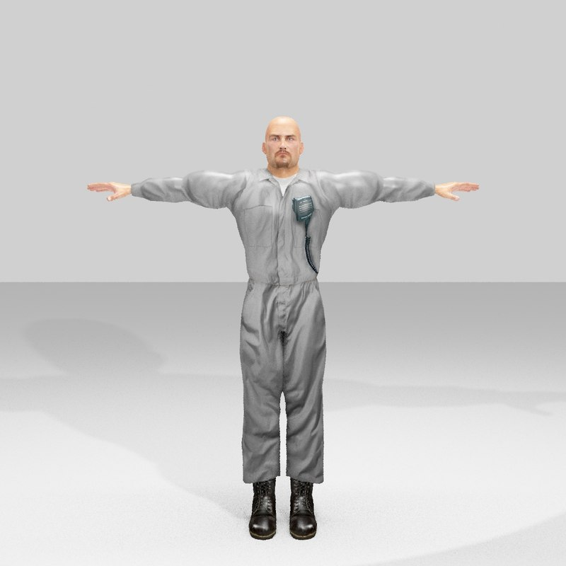 3D model people human character