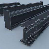 profile metal 3D model