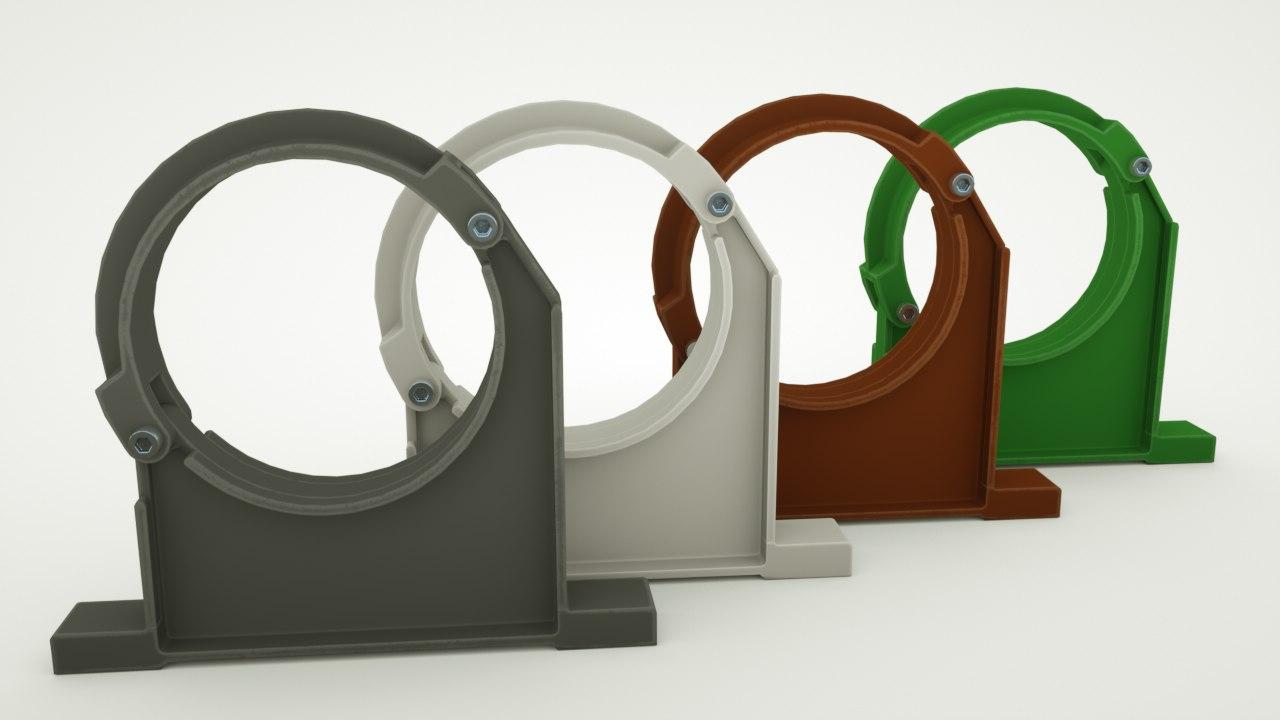 pipe clamp holder 3D model