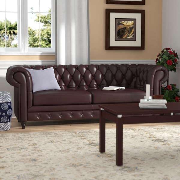 chesterfield sofa leather 3D model