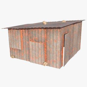 3D shack metallic