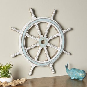 decorative wood ship wheel 3D model
