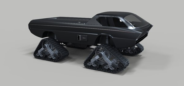 dodge deora track 3D model